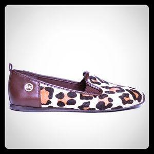 Michael Kors leopard flat loafers size 7